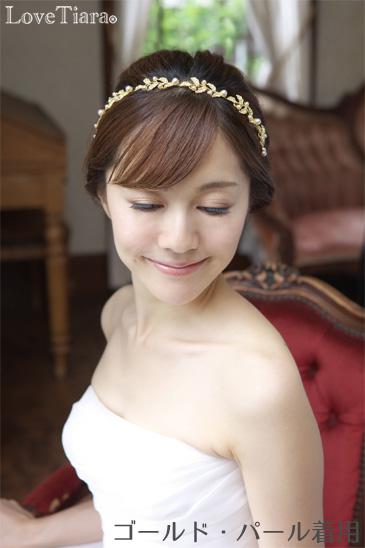着用イメージ ヘッドドレス ウエディング 結婚式