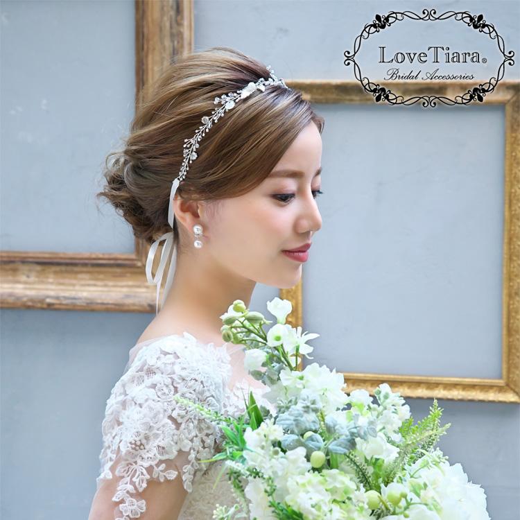 カチューシャ リボンカチューシャ ウェディング ブライダル 結婚式
