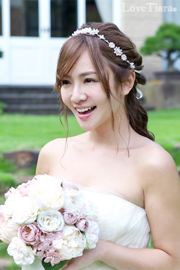 着用イメージ カチューム カチューシャ ウェディング 結婚式